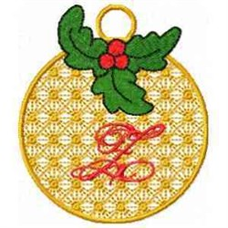 Ornament Letter Z embroidery design