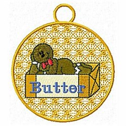 Gingerbread Ornament embroidery design