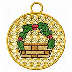 Basket Ornamnet embroidery design