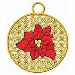 Poinsettia Ornament embroidery design