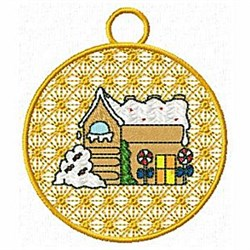 Gingerbread House Ornament embroidery design