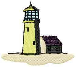 Yellow Lighthouse embroidery design