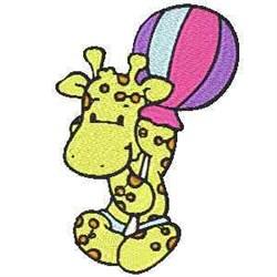 Lolli Giraffe embroidery design
