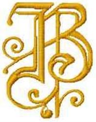 Fantasy Alphabet B embroidery design