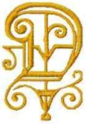 Fantasy Alphabet D embroidery design