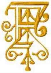 Fantasy Alphabet F embroidery design