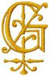 Fantasy Alphabet G embroidery design