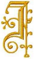 Fantasy Alphabet I embroidery design