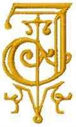 Fantasy Alphabet J embroidery design