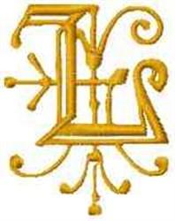 Fantasy Alphabet L embroidery design