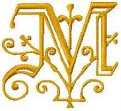 Fantasy Alphabet M embroidery design