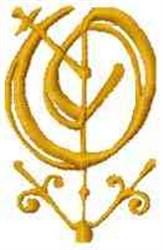 Fantasy Alphabet O embroidery design