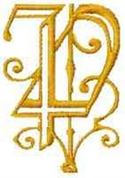 Fantasy Alphabet P embroidery design