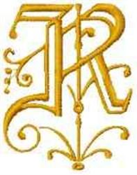 Fantasy Alphabet R embroidery design