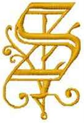 Fantasy Alphabet S embroidery design