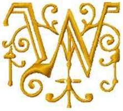 Fantasy Alphabet W embroidery design