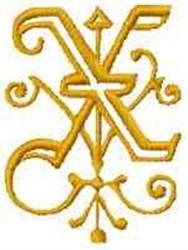 Fantasy Alphabet X embroidery design