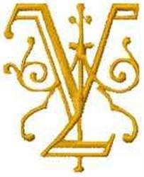 Fantasy Alphabet V embroidery design