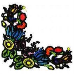 Corner Floral embroidery design