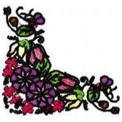 Corner Greenery embroidery design