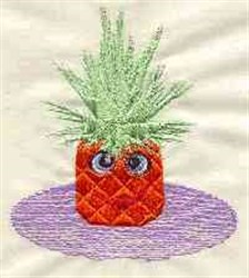 Friendly Pineapple embroidery design
