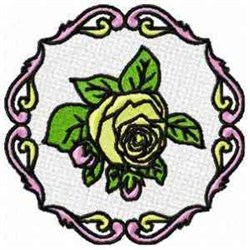 FSL Rose Circle embroidery design