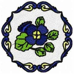 FSL Floral Circle embroidery design