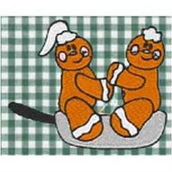 Gingerbread Skillet embroidery design