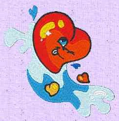Heart Water embroidery design