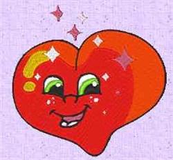 Heart Sparkle embroidery design