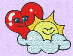 Heart Sun embroidery design