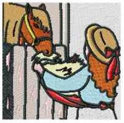 Barn Horse embroidery design
