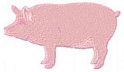 Farm Pig embroidery design