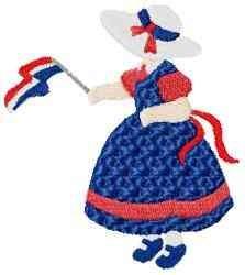 Flag Girl embroidery design