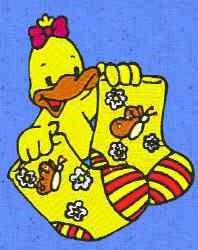 Duck Socks embroidery design