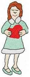 Valentine Woman embroidery design