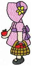 Apple Girl embroidery design