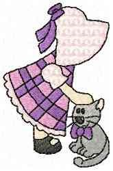 Cat Girl embroidery design