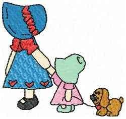 Walking Dog embroidery design