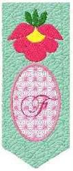 Bookmark F embroidery design