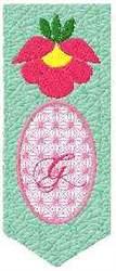 Bookmark G embroidery design