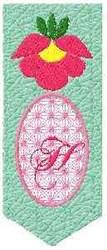 Bookmark H embroidery design