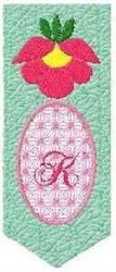 Bookmark K embroidery design