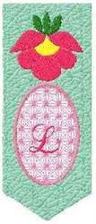 Bookmark L embroidery design