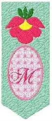 Bookmark M embroidery design