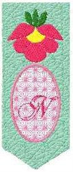 Bookmark N embroidery design