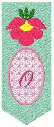 Bookmark O embroidery design