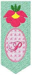 Bookmark P embroidery design