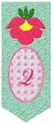 Bookmark Q embroidery design