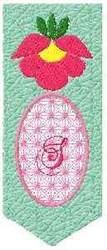 Bookmark S embroidery design